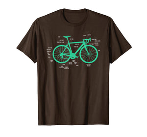 Bike Anatomy Bicycle T-Shirt Bicycle Parts Shirt Gift Idea