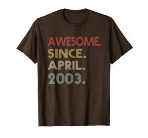 Awesome Since April 2003 Vintage T-Shirt 16th Birthday Gift