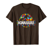 Load image into Gallery viewer, Mommasaurus -Dinosaur T-Rex Proud Autism Mom Shirt Gift