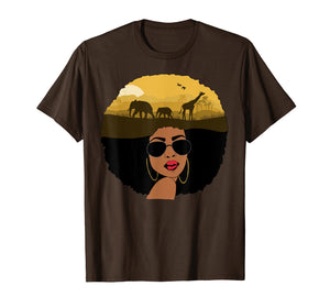 African Queen African American T Shirts for Women
