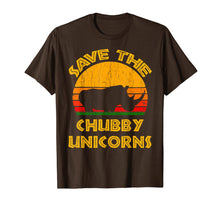 Load image into Gallery viewer, Save the Chubby Unicorns T Shirt Rhino Lover Gift Tee