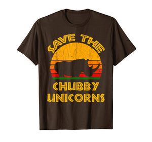 Save the Chubby Unicorns T Shirt Rhino Lover Gift Tee