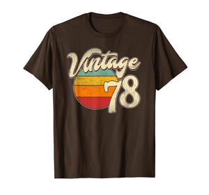 1978 Retro Vintage 41th Birthday Gift T Shirt