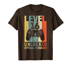 Level 16 Unlocked Official Teenager 16th Birthday Shirt