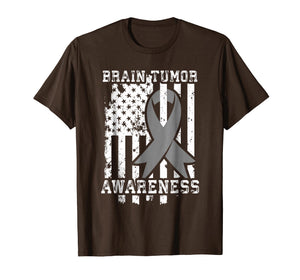 American Flag Shirt Gift for Brain Tumor Patients