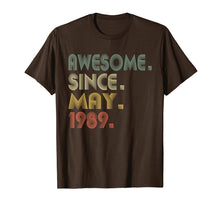 Load image into Gallery viewer, 30th Birthday Gifts T-Shirt Vintage Awesome Since May 1989