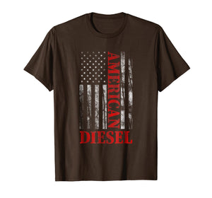 American Diesel Flag Truck Turbo Brothers T-Shirt Gift