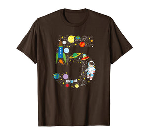Outer Space Fifth Birthday Astronaut Number five T-shirt