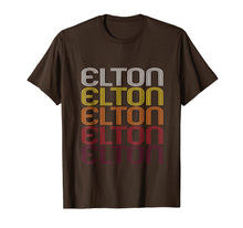 Load image into Gallery viewer, Elton Retro Wordmark Pattern - Vintage Style T-shirt