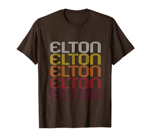 Elton Retro Wordmark Pattern - Vintage Style T-shirt