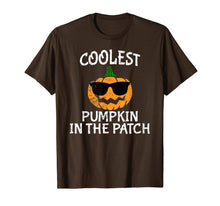 Load image into Gallery viewer, Coolest Pumpkin in the patch Funny Boys Halloween Tee  T-Shirt