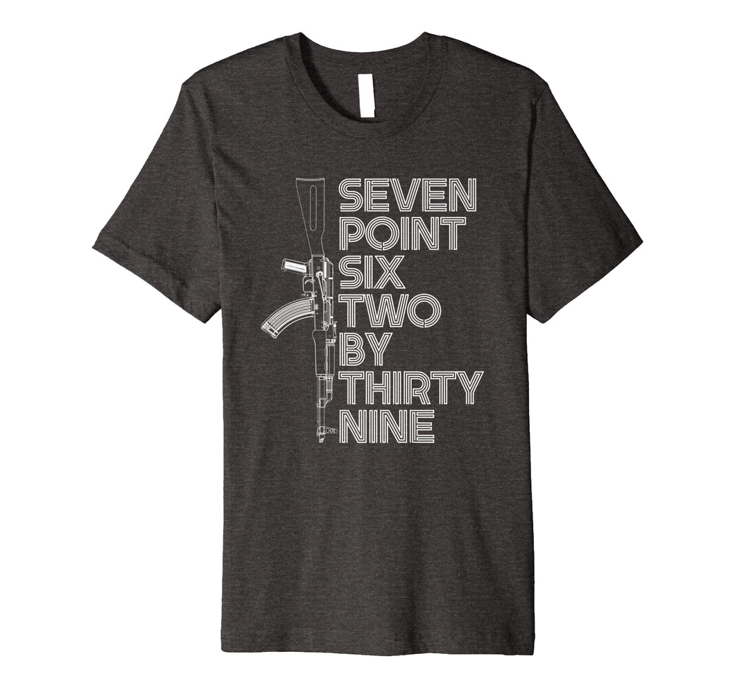 7.62x39 Seven Point Six Two by 39 AK47 Rifle T-shirt
