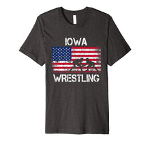 Load image into Gallery viewer, Iowa Wrestling American Flag Gift For Wrestler Shirt