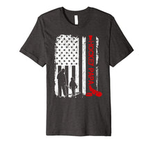 Load image into Gallery viewer, Hockey Papa American Flag Gift Father's Day T-shirt