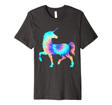 Load image into Gallery viewer, Tie Dye Unicorn Shirt | Colorful Tye Dye Horse Horn T-Shirt