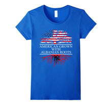 Load image into Gallery viewer, Albanian Roots, American Grown, Flag of Albania Shirt