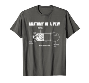Anatomy Of A Pew Funny Bullet Gun Lovers T-Shirt