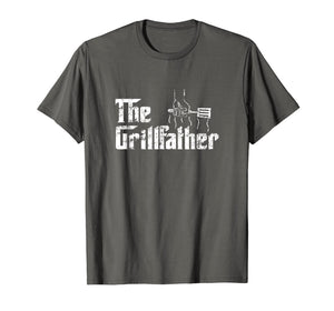 The Grillfather BBQ Distressed Dad Grilling Shirt