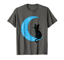 Load image into Gallery viewer, Black Cat Crescent Moon Sailor Mom T-Shirt