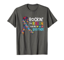 Load image into Gallery viewer, Autism Brother - Rockin' the Ribbon for My Brother T-Shirt