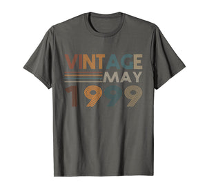 Retro Vintage May 1999 T Shirt 20th Birthday Gifts Tee