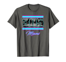 Load image into Gallery viewer, Miami Retro 305 South Beach View 80s Pink & Blue T-Shirt