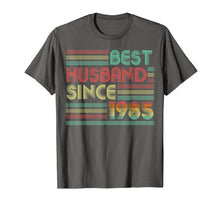 Load image into Gallery viewer, 34th Wedding Anniversary Gifts Best Husband Since 1985 Shirt