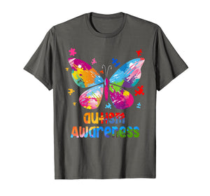 Autism Awareness TShirt Gift Colorful Butterfly Autism