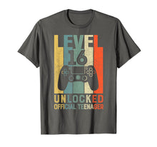 Load image into Gallery viewer, Level 16 Unlocked Official Teenager 16th Birthday Shirt