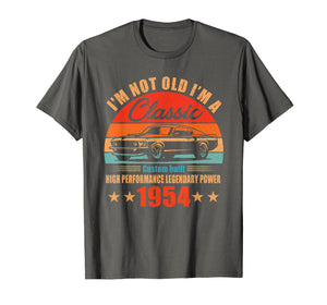 65th Birthday Gift Ideas Classic 1954 T-shirt for Men Women