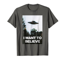 Load image into Gallery viewer, Alien UFO Hunter Shirt I Want To Believe T-Shirt