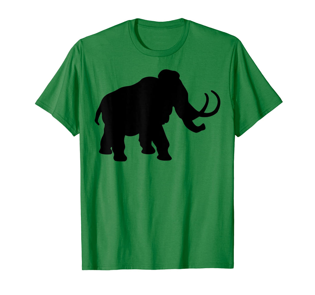 Big Ice-Age Mammoth Elephant Silhouette T-Shirt