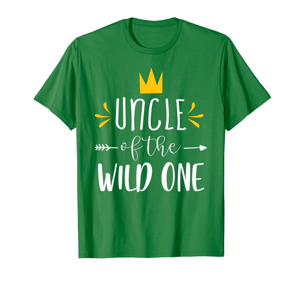 Matching Shirt Cute 1st Birthday Uncle Of The Wild One Tee
