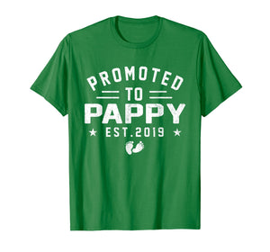 Promoted To Pappy est 2019 T-Shirt Mother's Day Gifts Men