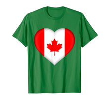 Load image into Gallery viewer, I Love Canada T-Shirt | Canadian Flag Heart Outfit