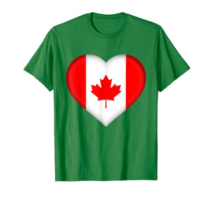 I Love Canada T-Shirt | Canadian Flag Heart Outfit