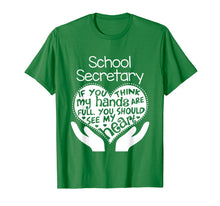Load image into Gallery viewer, School Secretary Clerk Office T shirt Heart Group Gift