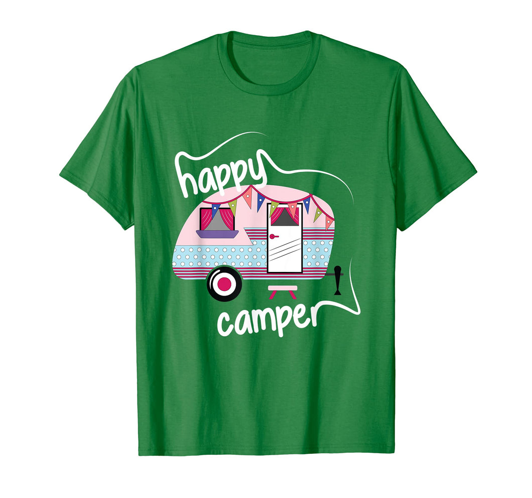 Happy Camper Road Trip Camping Vacation Glamping T-Shirt