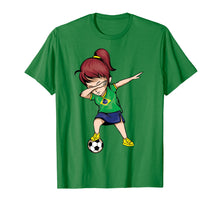Load image into Gallery viewer, Dabbing Soccer Girl Brazil Jersey Shirt - Brazilian Football