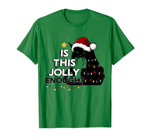 Black Cat Christmas Tree Is This Jolly Enough For Xmas T-Shirt