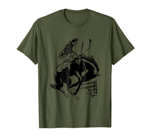 Cowboy Rodeo T-Shirt Western Wrangler Ranch Graphic Tee