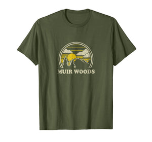 Muir Woods California CA T Shirt Vintage Hiking Mountains
