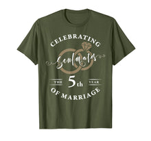 Load image into Gallery viewer, 5th Wedding Anniversary T-Shirt 5 years of Marriage Gift