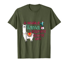 Load image into Gallery viewer, A Whole Llama Learning Going on Teachers Students T-Shirts