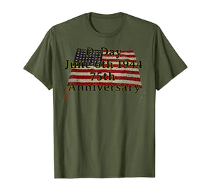 D-Day June 6th 1944 75th Anniversary Commemorative 48 Star  T-Shirt