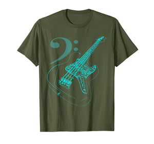 Bass with Clef Neon T-Shirt for Bassists & Bass Player