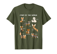 Load image into Gallery viewer, Foxes Of The World Funny Fox Animals Educational T Shirt