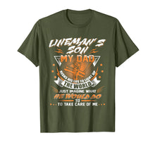 Load image into Gallery viewer, Lineman's Son Shirt Proud Lineman Fathers Day Gift Shirt