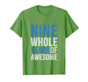 9th Birthday Shirt Gift Boy Age 9 Nine Year Old Boys Son