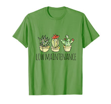 Load image into Gallery viewer, Low Maintenance tshirt funny cactus succulent tshirt humor